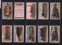 Cigarette cards Railway Engines 1934 set by Phillips